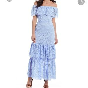 Gianni Bini Laney Off-the-Shoulder Tiered Lace